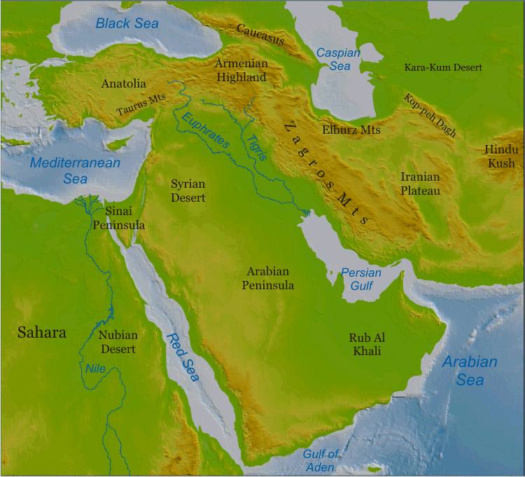 Grade 7 – The Middle East